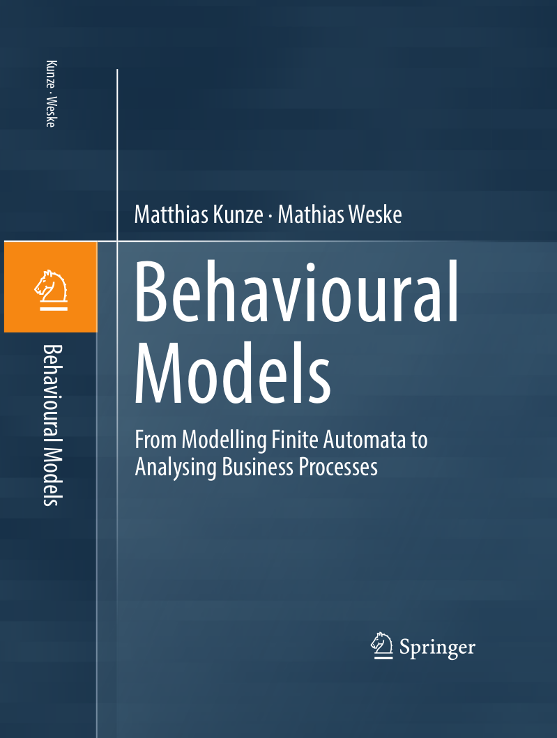 Cover Behavioural Models Textbook